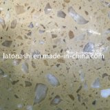 フロアーリングおよび壁のための人工的な黄色いハイビスカスの大理石の石のタイル