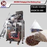 Machine à emballer de sachet à thé de triangle avec le peseur électrique comme voie alimentante (10D)