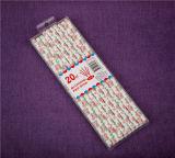 Pailles à boire de papier grandes d'usager de papier promotionnel de cadeaux