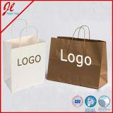 Способ оборачивая мешок упаковки подарка покупкы бумажный с шнурами