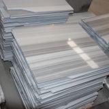 Красивейшая белая нашивка вся плитка мрамора цвета для сляба пола