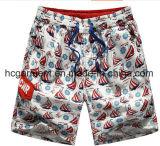 Il tessuto di nylon si imbarca sugli Shorts, Shorts della spiaggia stampati la navigazione dell'uomo