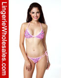 "Ladies ""sexy"" Pink Swimwear Pretty em Heart Pattern String Bikini"