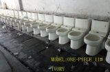 Toilet Uit één stuk van de Sifon van de Riem van de Kleur van het ivoor/van het Been het Straal Ceramische in Badkamers voor Sanitaire Waren met Ce/Saso- Certificaat