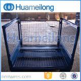 Supporto piegante accatastabile resistente del metallo della rete metallica
