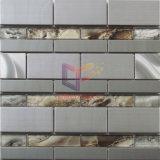 Серебряная мозаика бумаги стены смешивания нержавеющей стали цвета кристаллический (CFM1030)