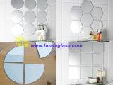 Feuille de Frameless de miroir d'argent de salle de bains de miroir d'argent en verre de flotteur