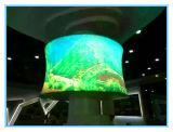 P10 실내 풀 컬러 LED 원통 모양 스크린