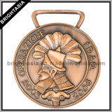 Metal su ordinazione Bronze 3D Sports Medal con Ribbon (BYH-10841)
