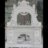 Camino bianco Mfp-665 di Carrara del camino di pietra di marmo del granito