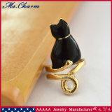 Joyería determinada de la manera del anillo del clavo de la estrella del gato negro del caballero de 3 PCS/Set