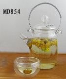 Mercancías/cristalería/Teaset de cristal de /Kitchen del pote de /Tea del pote