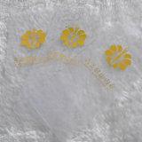 Белая земная желтая ткань печатание Lettels для одеяния