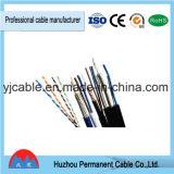 Cobre del calibrador del cable 24 de la red de UTP CAT6 4 pares de la categoría 6 de la red RJ45 del cable RJ45 de corrección del cable de la cuerda
