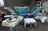 Manuelles T-Shirt Silk Screen Printing Machine (Side Rohrschellesystem)