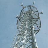 윤곽 마이크로파에 의하여 직류 전기를 통하는 tv 방송 강철 탑