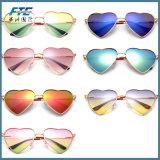 2017 occhiali da sole del metallo di figura del cuore di modo