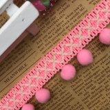 Guarnição de lã colorida do laço do fio do ângulo direito