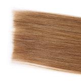 7Aブラジルボディ波よこ糸を編まない波状の人間の毛髪4部分の組みひもの人間の組みひもの毛の大きさのための接続機構の大きさの毛無し