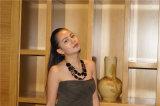 2 слоя ожерелья с квадратными смолаой и серьгами и комплектами ювелирных изделий