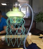 새로운 해파리 모양 LED 물 궐련용 물뿌리 Hookah Shisha E 담배 유리제 관 Electre 담배 유리제 관 전자 담배 소형 전자 담배