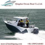 canot automobile inférieur 21FT profond de vitesse de pêche côtière éloignée de mer de 6.25m V