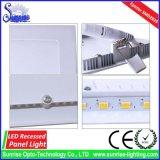 새로운 알루미늄 매우 얇은 중단된 정연한 천장 12W LED 위원회