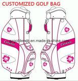 Bolso de golf único de encargo promocional del cuero genuino
