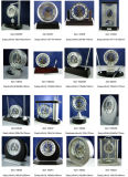 Horloges de bureau rondes en métal de Conda, horloge de bureau