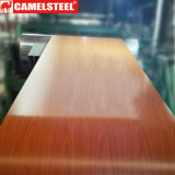 Деревянным катушка ASTM A653 покрынная цветом стальная