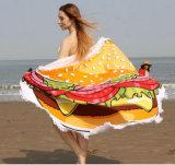Impreso alrededor de la toalla de playa con la borla