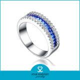 Migliore anello d'argento di vendita con zaffiro (SH-R0060)