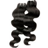 束のバージンのブラジルの毛4*4のレースの閉鎖が付いている閉鎖のレースの閉鎖が付いている7abrazilianバージンの毛ボディ波の人間の毛髪のよこ糸
