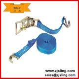 5m x 25mm azul de poliéster de amarre para afianzar e incrementar las cargas.