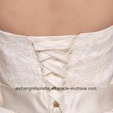 Vestidos brancos da dama de honra das meninas da noiva do Tornozelo-Comprimento da cor da cabeçada Sleeveless