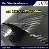 Vendita calda! ! ! Alta pellicola lucida dell'involucro dell'automobile della fibra del carbonio di struttura 5D del nero 3D
