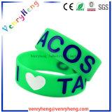Geprägte Debossed Silikongummiwristbands-Armbänder für fördernde Geschenke