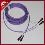 12 плоский мужчина волокна MPO блока к кабелям хобота заплаты MPO мыжским оптически