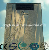 Bamboo Bronze Patterned Glass con CE, iso (3-8mm)
