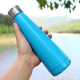 Le double mure la bouteille en métal de bouteille de sport de bouteille de vide de bouteille d'eau d'acier inoxydable