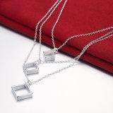 Catena di disegno tre di modo con la collana originale dei monili della collana Pendant rombica tre