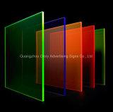 Feuille à haute impression d'acrylique de couleur de transparence