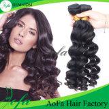 Weave malaio do Virgin humano não processado do cabelo 100% de Guangzhou Aofa