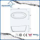 Banheira autônoma de superfície contínua oval do banheiro (AB6590)