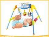 3개의 가르랑거리는 소리를 가진 아기 장난감 체조 세트 및 아기를 위한 음악
