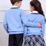 学生はユニフォーム、学生服、学生のカーディガンのセーターに着せる