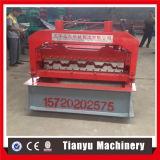 Rolo galvanizado da placa do Decking do piso de aço que dá forma à máquina