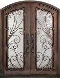 美しく装飾的な手作りされた錬鉄の前ドア