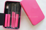Kundenspezifisches Logo Nylon Hair 7PCS Pink Cosmetic Makeup Brush Set