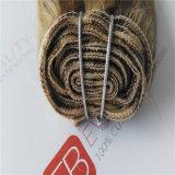 ブラジルの毛を搭載する8A人間の毛髪のよこ糸